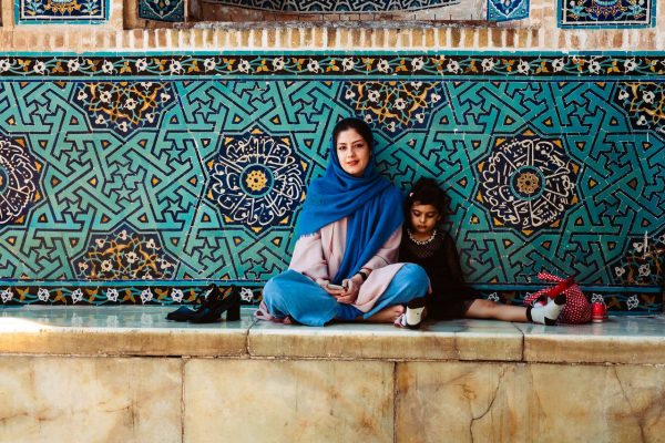 A mother and her child in yazd