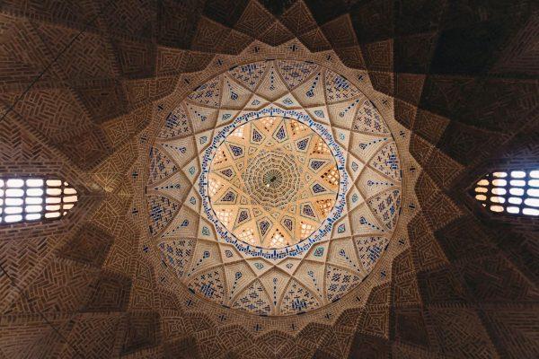 Geometric dome in yazd