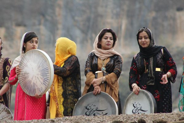 women playing daf- kermanshah